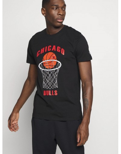 CAMISETA CHICAGO BULLS BASKETBALL, NEGRO