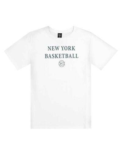 NEW YORK BASKET TEE BLANCA K1X
