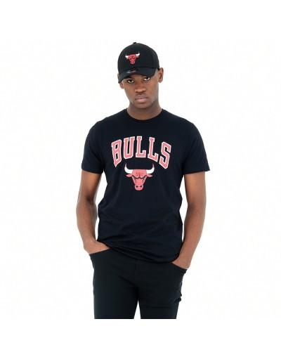 Camiseta Chicago Bulls Team Logo, Negro