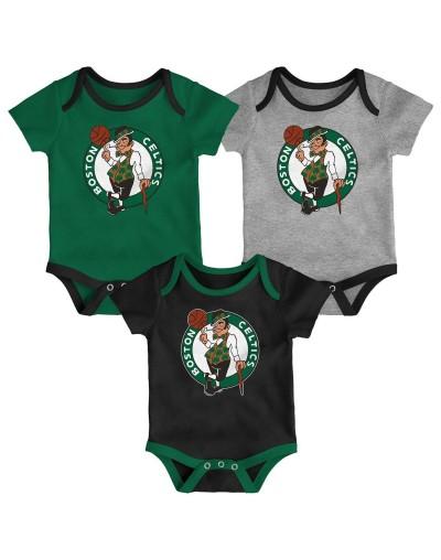 Boston Celtics Pack-3 Body Bebé PACK-3 6M Y 9M