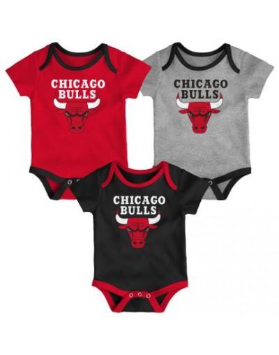 Chicago Bulls Pack-3 Body Bebé PACK-3 3M,6M Y 9M