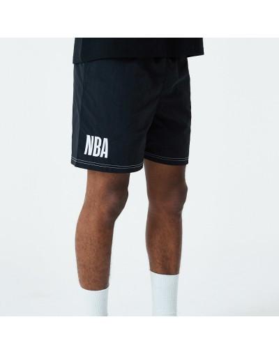 SHORTS NEW ERA NEGRO CON LOGO NBA