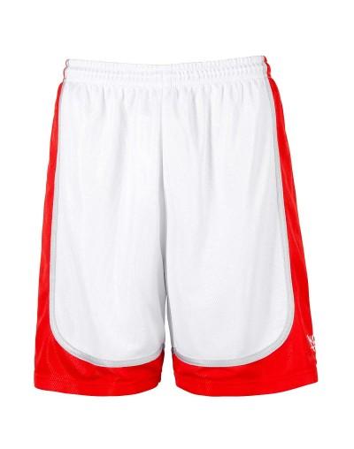 K1X Hardwood League Uniform Shorts, Blanco-Rojo