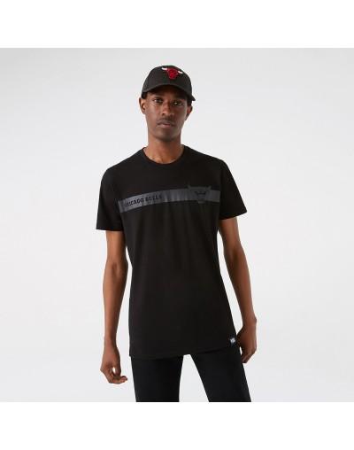 Camiseta Chicago Bulls Team Logo Stripe, Negro