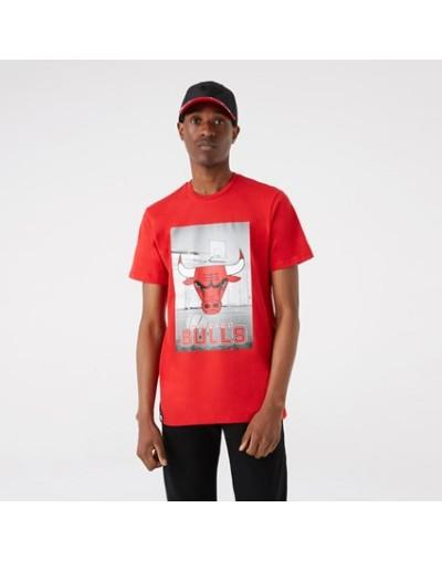Camiseta Chicago Bulls Photographic, Rojo