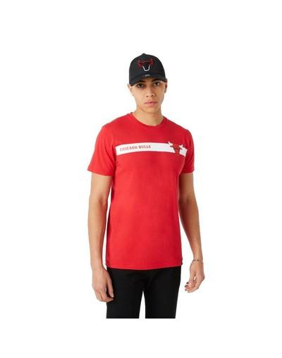 Camiseta Chicago Bulls Team Logo Stripe, rojo