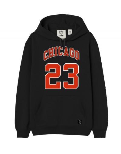 Sudadera Chicago 23 Negro