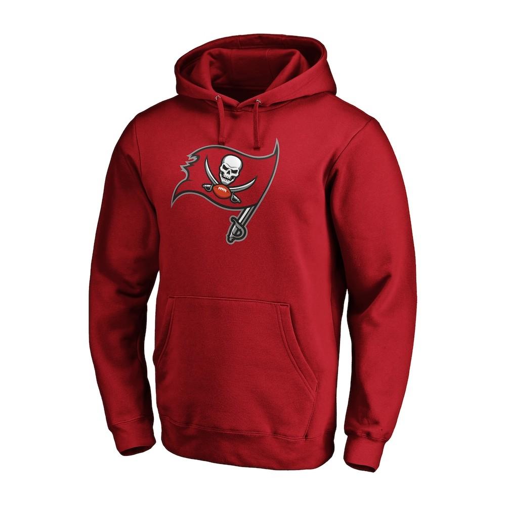 Sudadera con capucha y logo de los Tampa Bay Buccaneers Roja